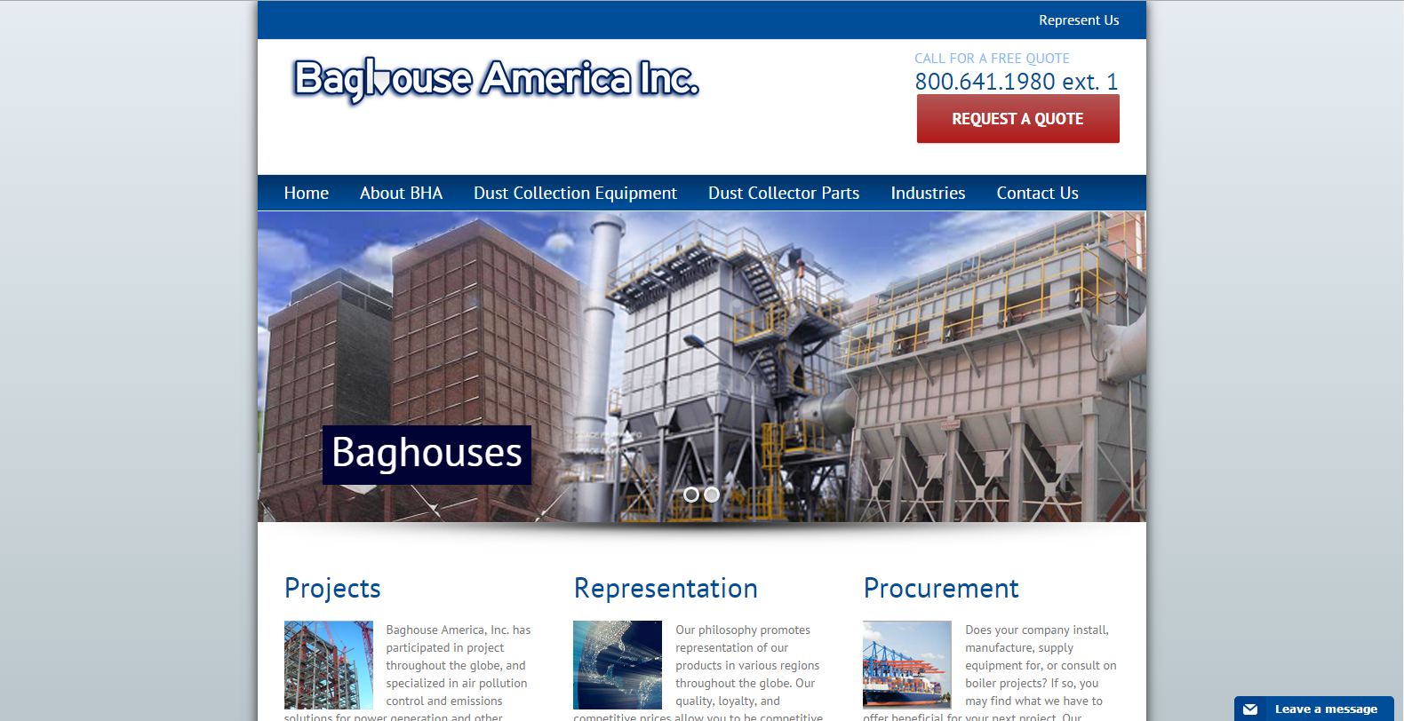 Baghouse America Website