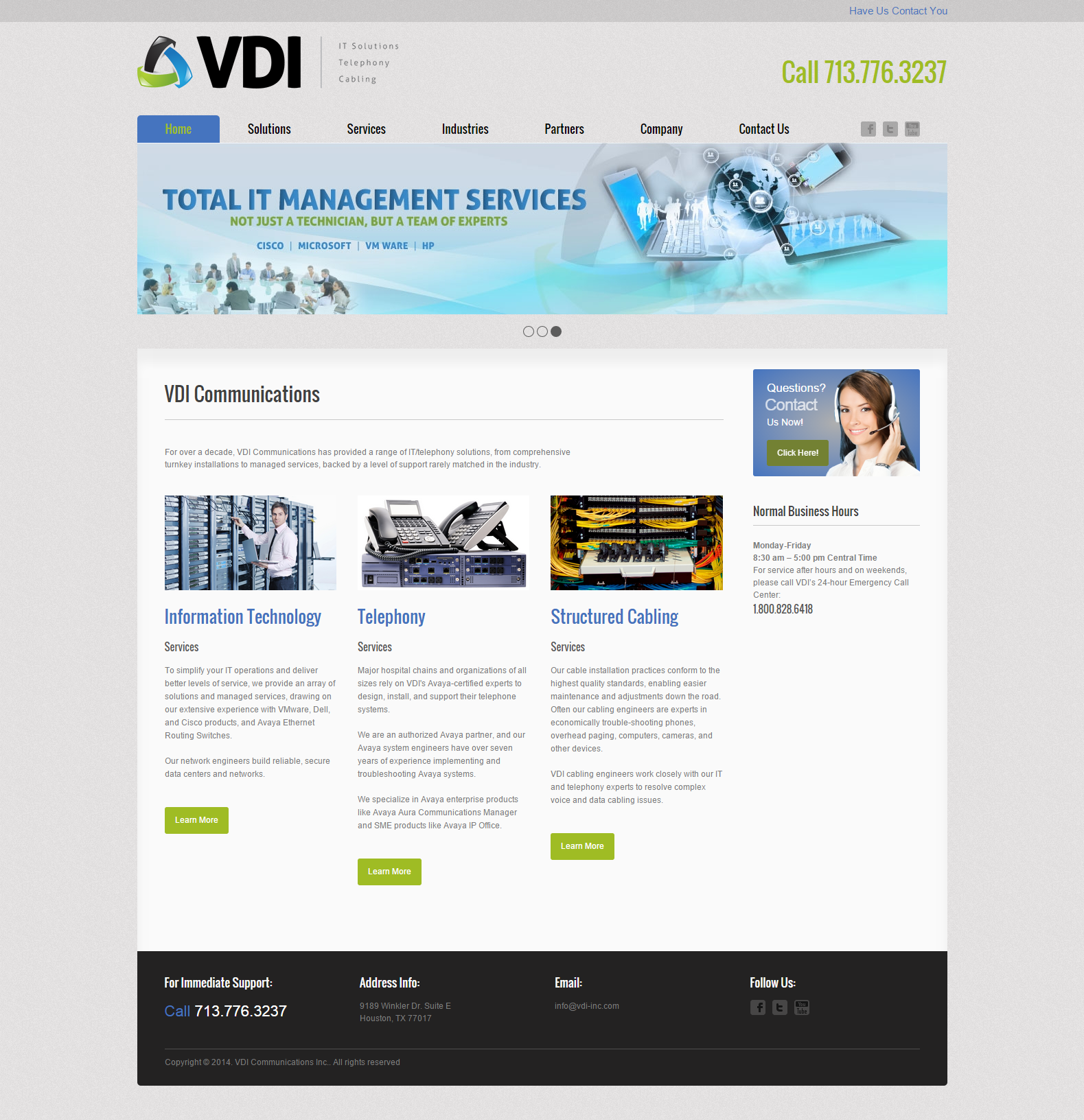 VDI Communications - Website Design