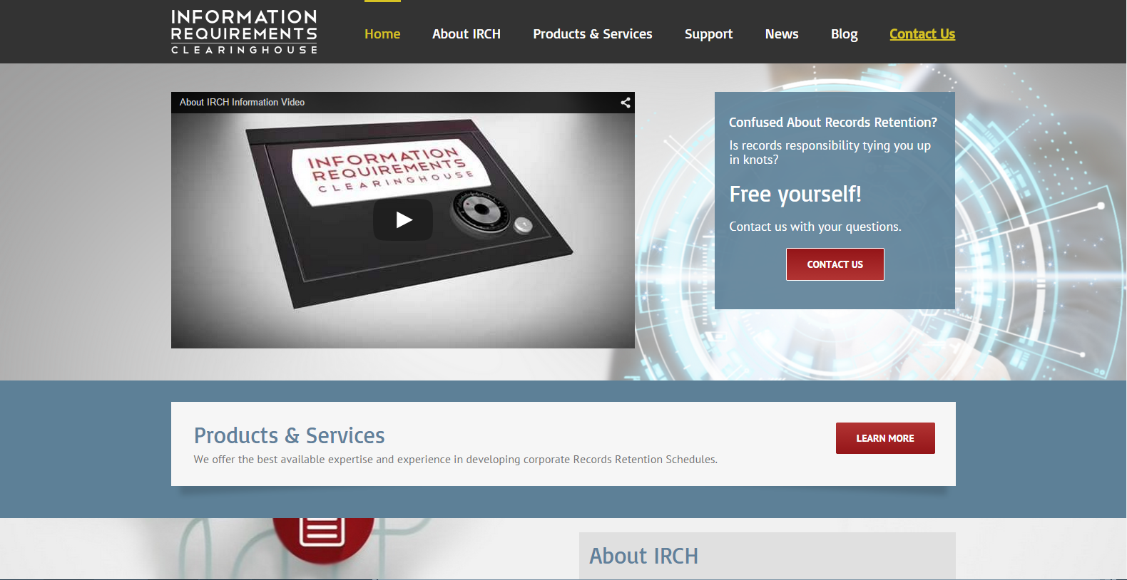 IRCH WordPress Website Design