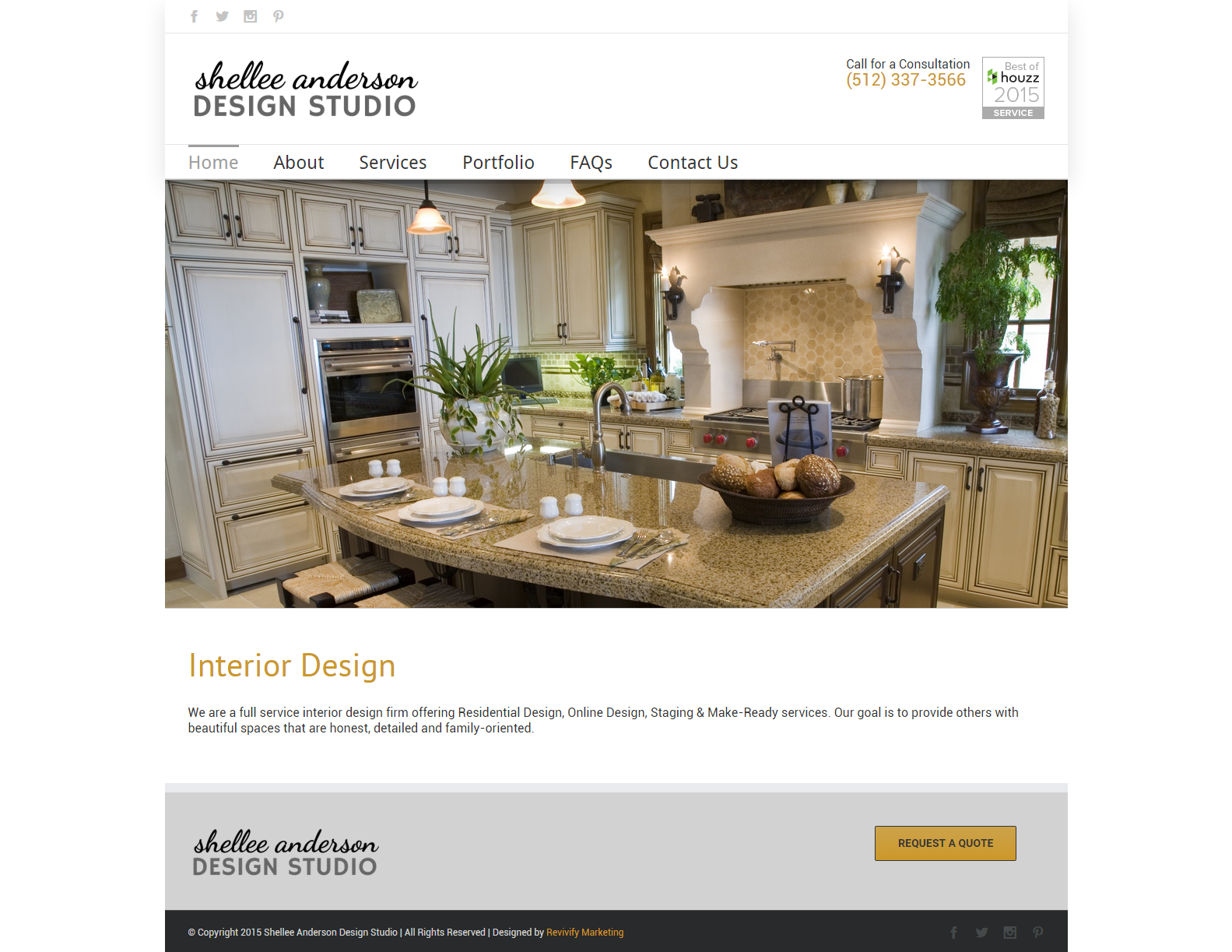 Website Design for Shellee Anderson Design Studio