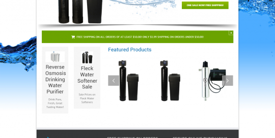 Soft Water Supply Website Design