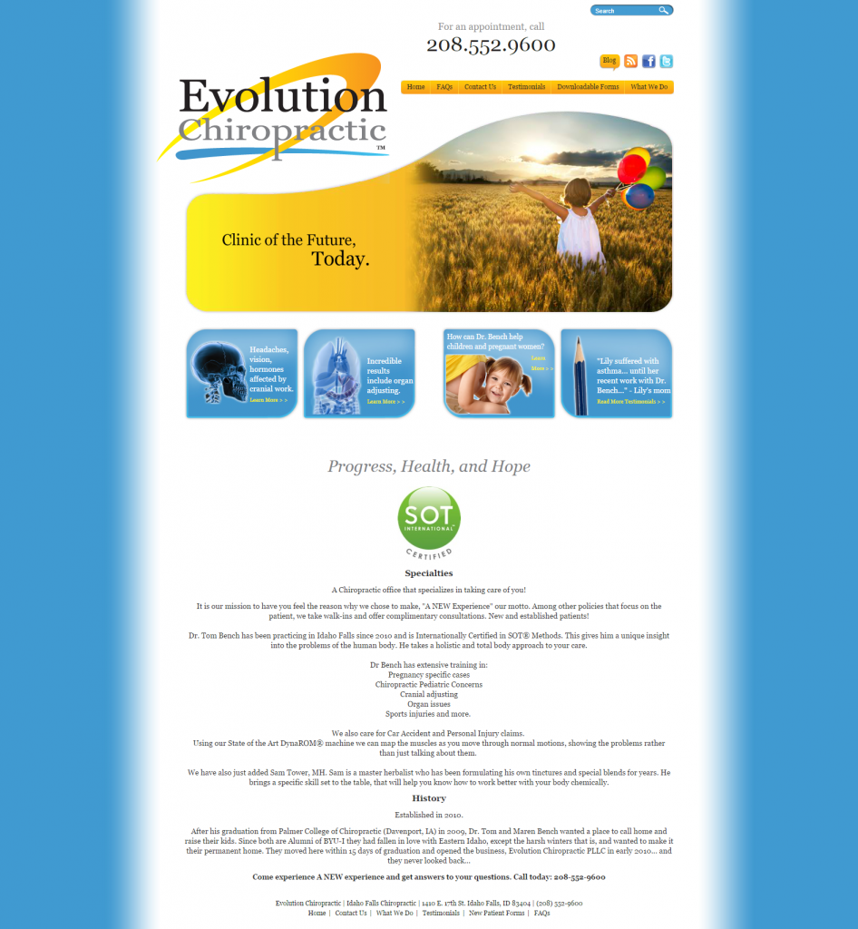 Evolution Chiropractic - BEFORE